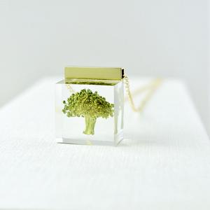 本物植物 ブロッコリーのネックレス 14kgf