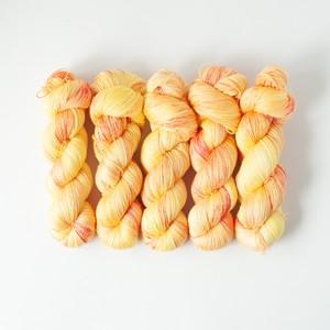 太陽とオレンジ (merino silk lace)