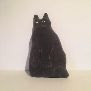 Tomotake / 動物クッション 黒ネコ ネロ BLACK CAT  NERO