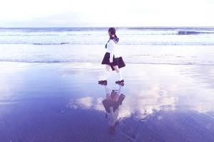 額装写真『空を歩く』