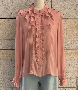 See-through frilled blouse(Ladys)