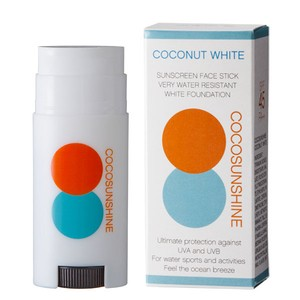 COCOSUNSHINE 日焼け止め  FACE STICK COCONUT WHITE SPF45 PA++