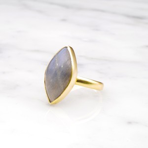 SINGLE BIG STONE RING GOLD 134