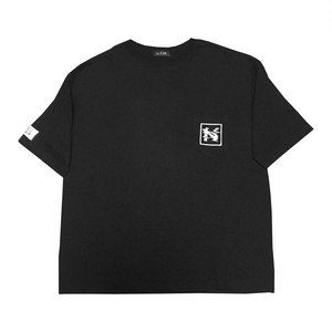 """""""NOI5E"""" Tシャツ(ウェーブノイズ)(ブラック)"""