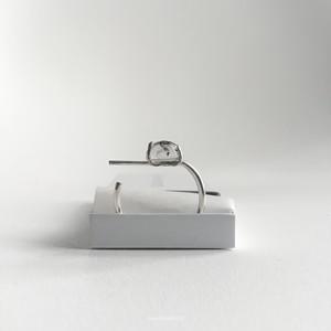 #2 tourmaline quartz open ring