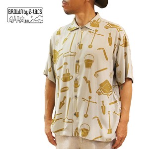 "BROWN by 2-tacs   B23-S004    ""ALOHA SHIRTS"""