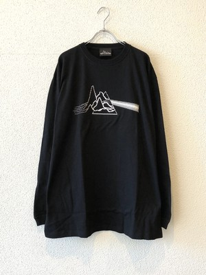 "【20007】LONG SLEEVE BIG Tee ""PULSAR&PRISM"" (BLACK)"