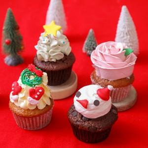 クリスマス限定カップケーキ4個セット