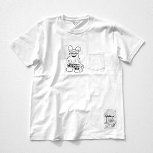 胸ポケットTシャツ(ミニチュアシュナウザー)ホワイト
