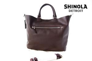 シャイノラ|shinola|ホーウィン社製レザー使用|ミディアムトートバッグ|ダークブラウン
