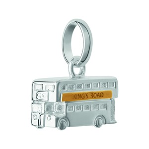 アミュレット カフブレスレット+ロンドンバス チャーム付き