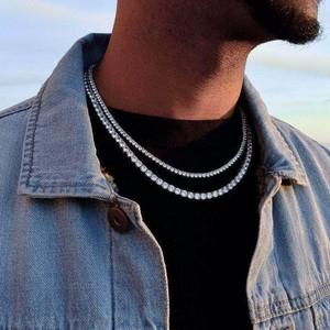 s925 Round Cut Tennis Necklace