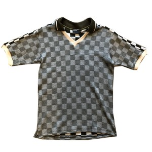 ENFANTS RICHES DÉPRIMÉS CHECKERBORAD V-NECK SHORT SLEEVE T-SHIRT