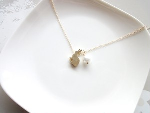 【受注生産】Necklace■animal rabbit 6■mini peaarl choice order