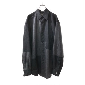 CALVINKLEIN PATCHWORK DESIGN SHIRT GRAY