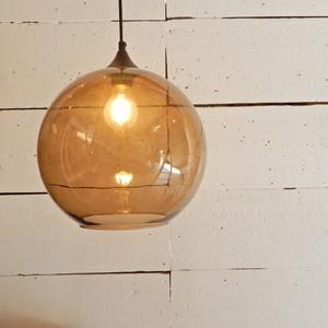 TOPANGA ガラスボール2灯ペンダントランプ コーヒー