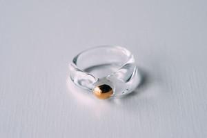11.5号 cleargold ring (no.26)