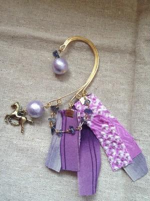 P169紫のイヤーフック