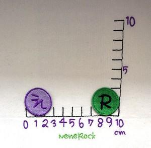 丸文字●つぶつぶ3センチ 4枚
