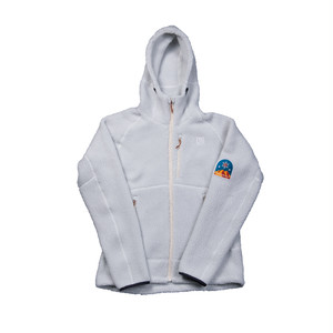 UN3500 Boa fleece hoody / white grey