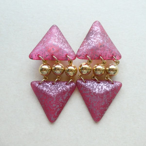 60s vintage earrings made in itary