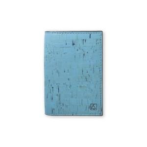 VEGAN BUSINESS CARD HOLDER  TEAL / 名刺入れ ティール コルク製