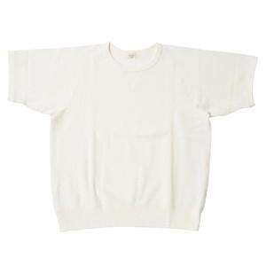※アウトレット品 Men's 鹿の子裏毛半袖スウェットシャツ White 5サイズ №52