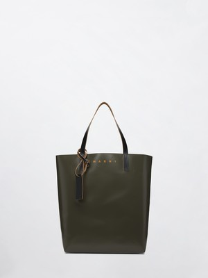 MARNI Shopping Bag Mosstone+Coffee+Black SHMQ0000A3