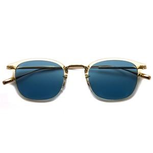 EYEVAN アイヴァン / CALDWELL SUN / LLT -BLUE (クリア/ゴールド - ブルーレンズ ウェリントンコンビネーションサングラス)