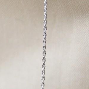 シルバー925 ネックレスチェーン 45㎝ ロープチェーン