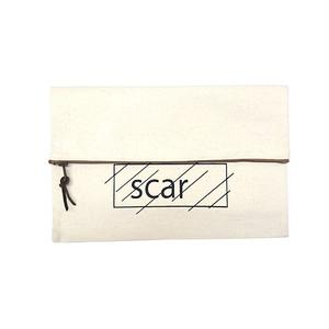 scar /////// OG CANVAS CLUTCH BAG (Natural)