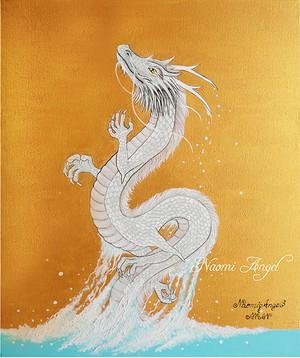 原画 Ryu Gu Jin (The Sea Divine Dragon)   龍宮神 (黄金バージョン)