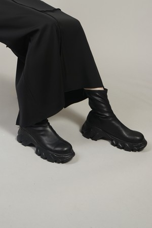 RUBBER SOLE STRETCH BOOTS (BLACK)2007-13-0