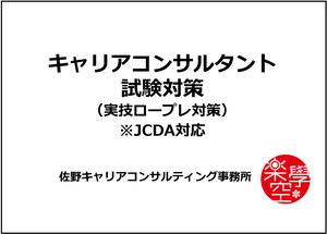 第13回キャリアコンサルタント試験・ロープレ対策講座(JCDA対応・遠隔ロープレ60分×3回コース)