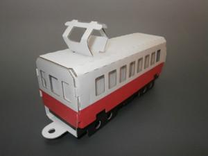段ボールで出来た電車