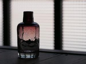 吹きガラス 平岩愛子 ボトル型一輪挿し(中)