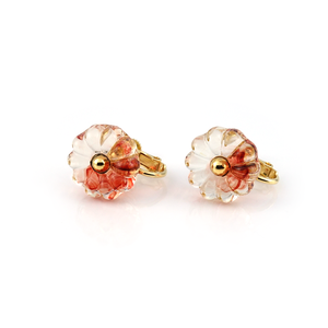"flower glass_earrings ""nishiki"""