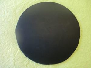 雄勝 石の丸皿 ラフカット190mm