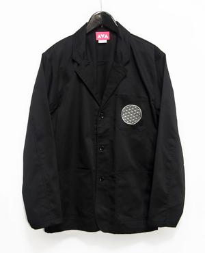 Flower of life pocket print jacket