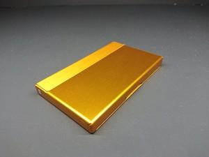 アルミニウム製名刺カードケース ゴールド色