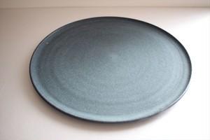 都築明|ロクロ平皿28cm