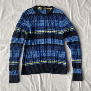 Preppy blue cotton sweater