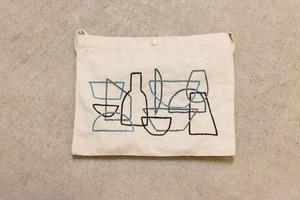 刺繍 サコッシュ 居場所の中の輪郭03
