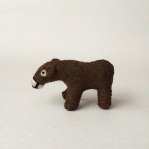 羊毛フェルトのクマ|Wool Felt Bear