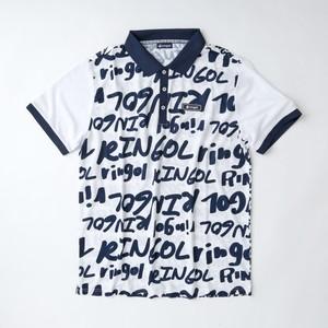 【メンズ】ringolプリントポロシャツ ホワイト