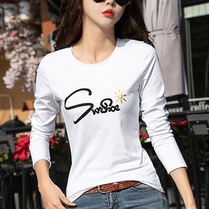 【トップス】定番シンプルラウンドネックアルファベットTシャツ23458012