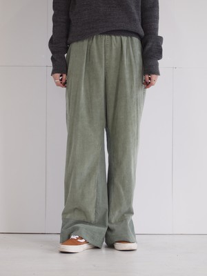 Corduroy color wide pants/F