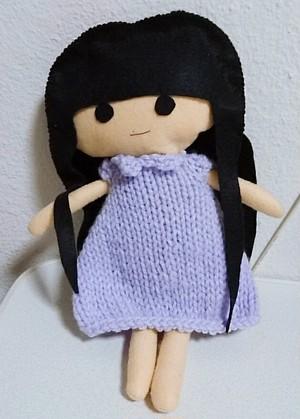 ニットワンピ 紫(りゅうあ人形用)