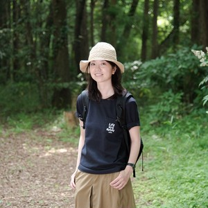 【LADIES'】.HYAKKEI T-shirts <LIFE WITH NATURE>(フロントプリント)