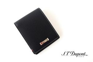 エス・テー・デュポン|S.T. Dupont|デフィ パンチングレザー二つ折り財布 |6カード収納